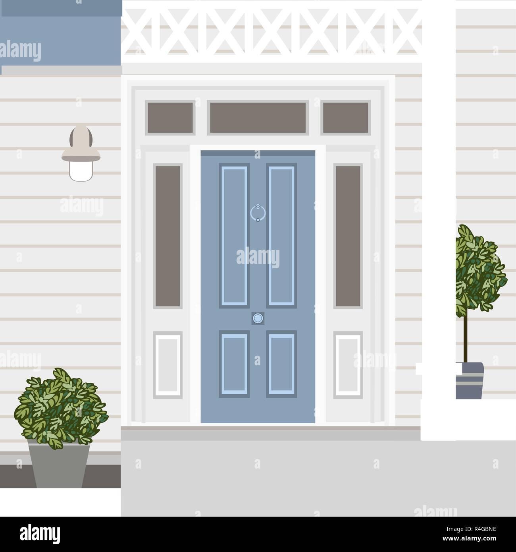 Porta Finestra Ingresso Casa casa porta anteriore con porta e finestra, fasi, lampada e