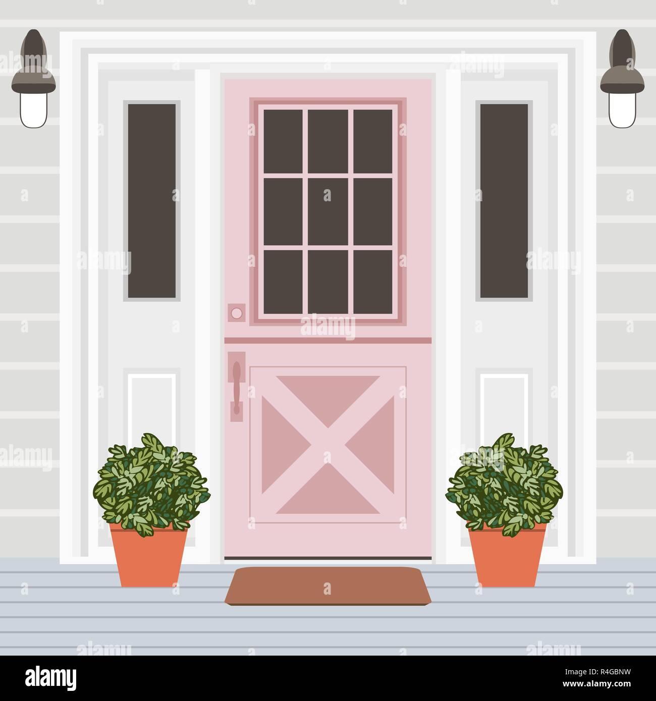 Porta Finestra Ingresso Casa casa porta anteriore con finestra, passaggi, lampade e
