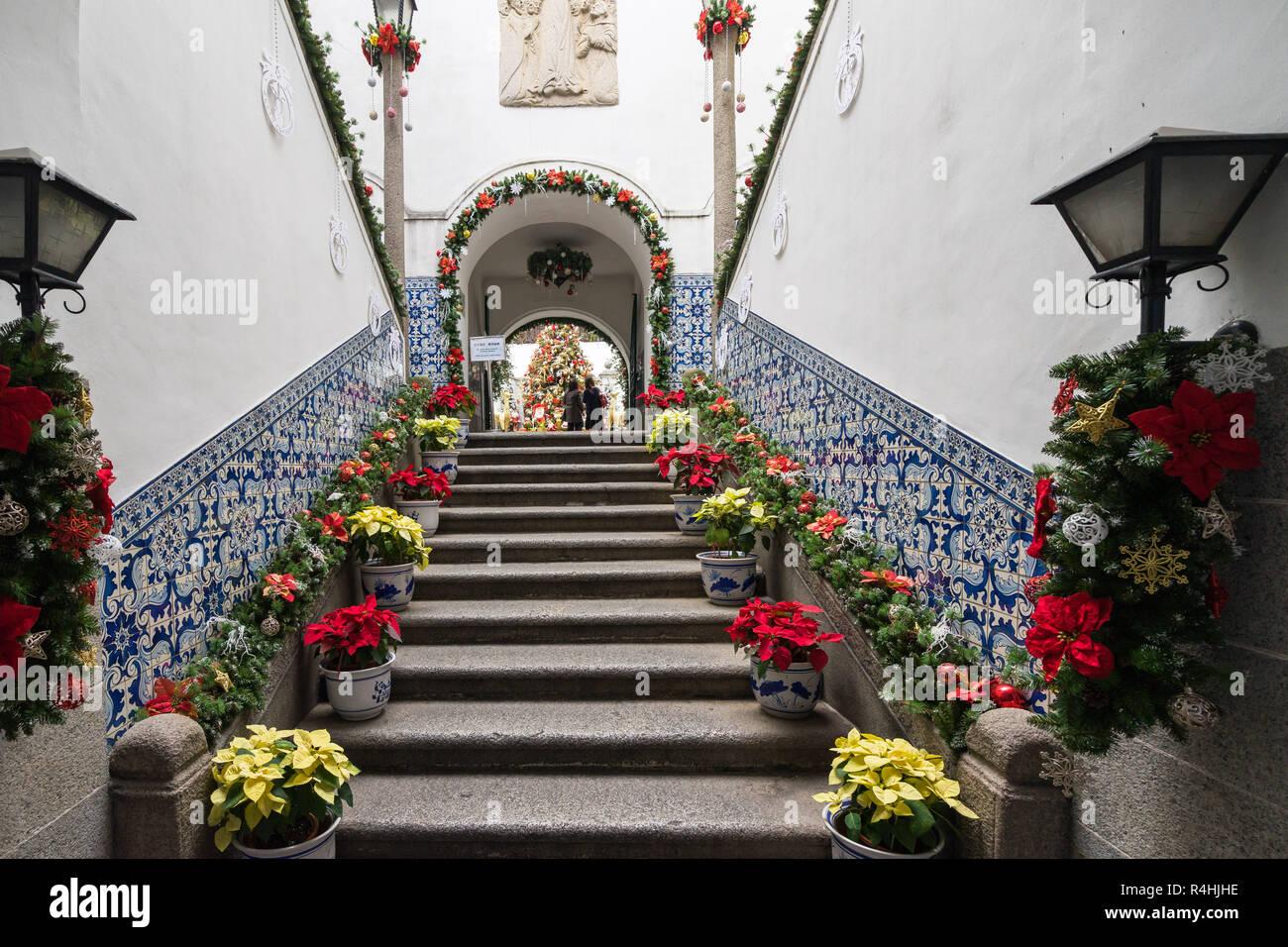 Decorazioni Natalizie Per Ufficio.Fiore Decorazioni Di Natale All Interno Di Civica Comunale E