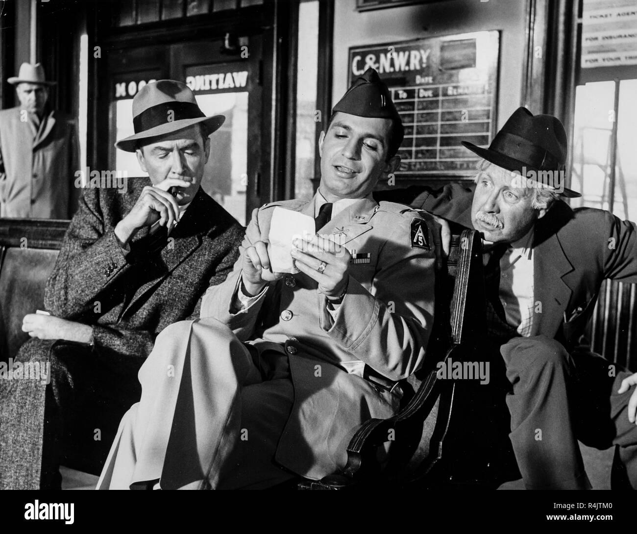 Arthur O'Connell, Ben Gazzara, James Stewart, anatomia di un omicidio, 1959 Immagini Stock