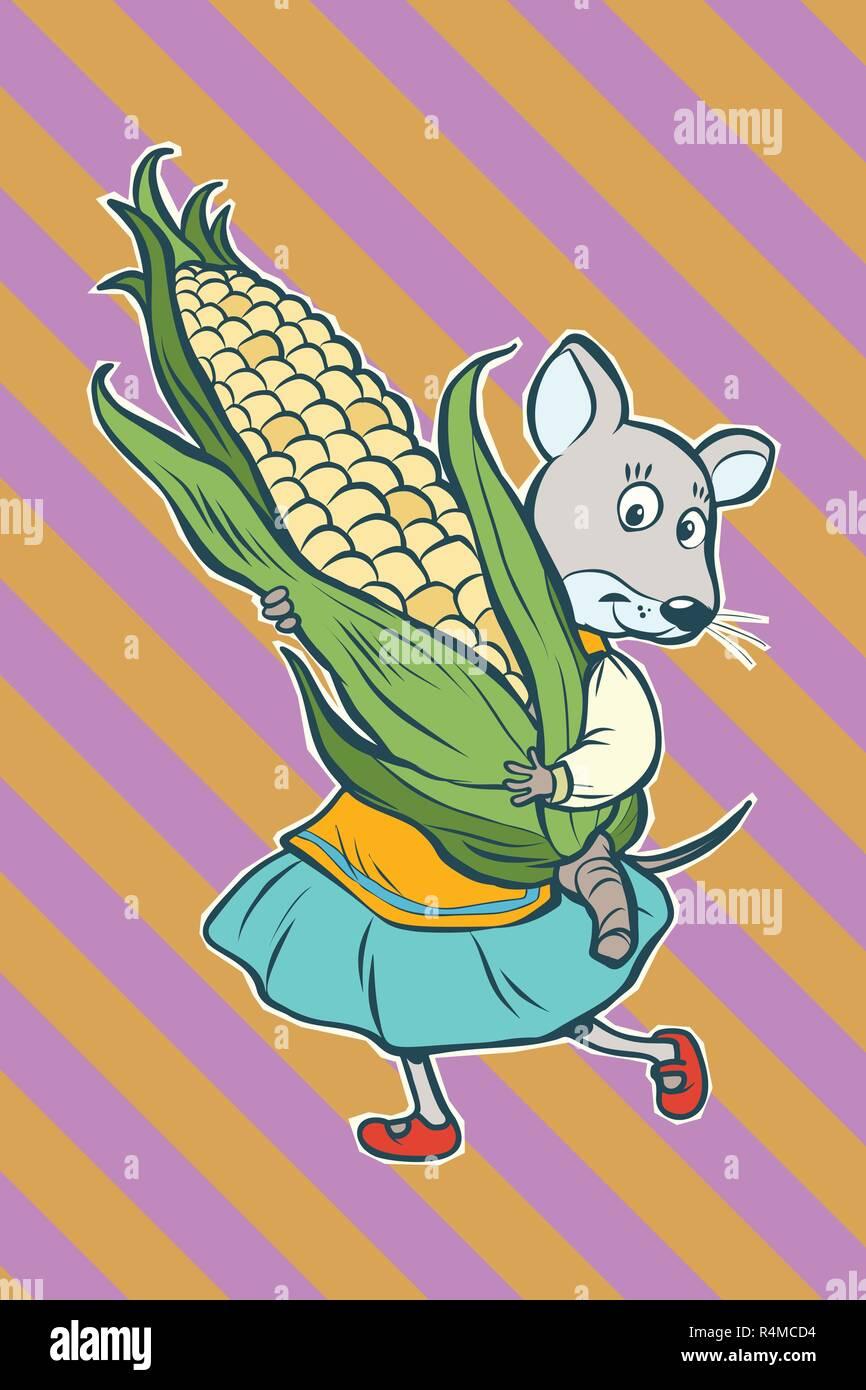 Corn Cob Cartoon Immagini Corn Cob Cartoon Fotos Stock Alamy