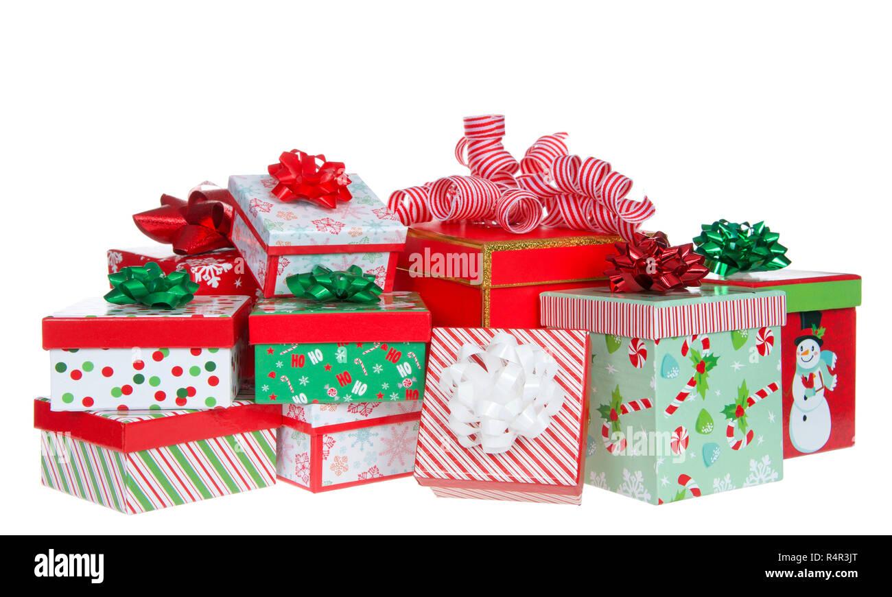 Immagini Piccole Di Natale.Pile Di Piccole Luminose Colorate Vacanze Di Natale Si