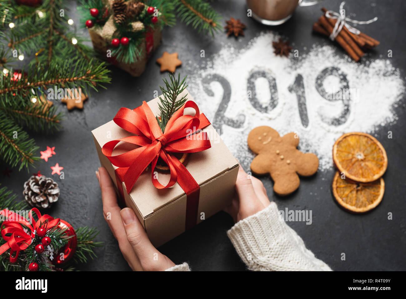 Natale 2019 Immagini.Natale 2019 Anno Nuovo Biglietto Di Auguri Confezione Regalo