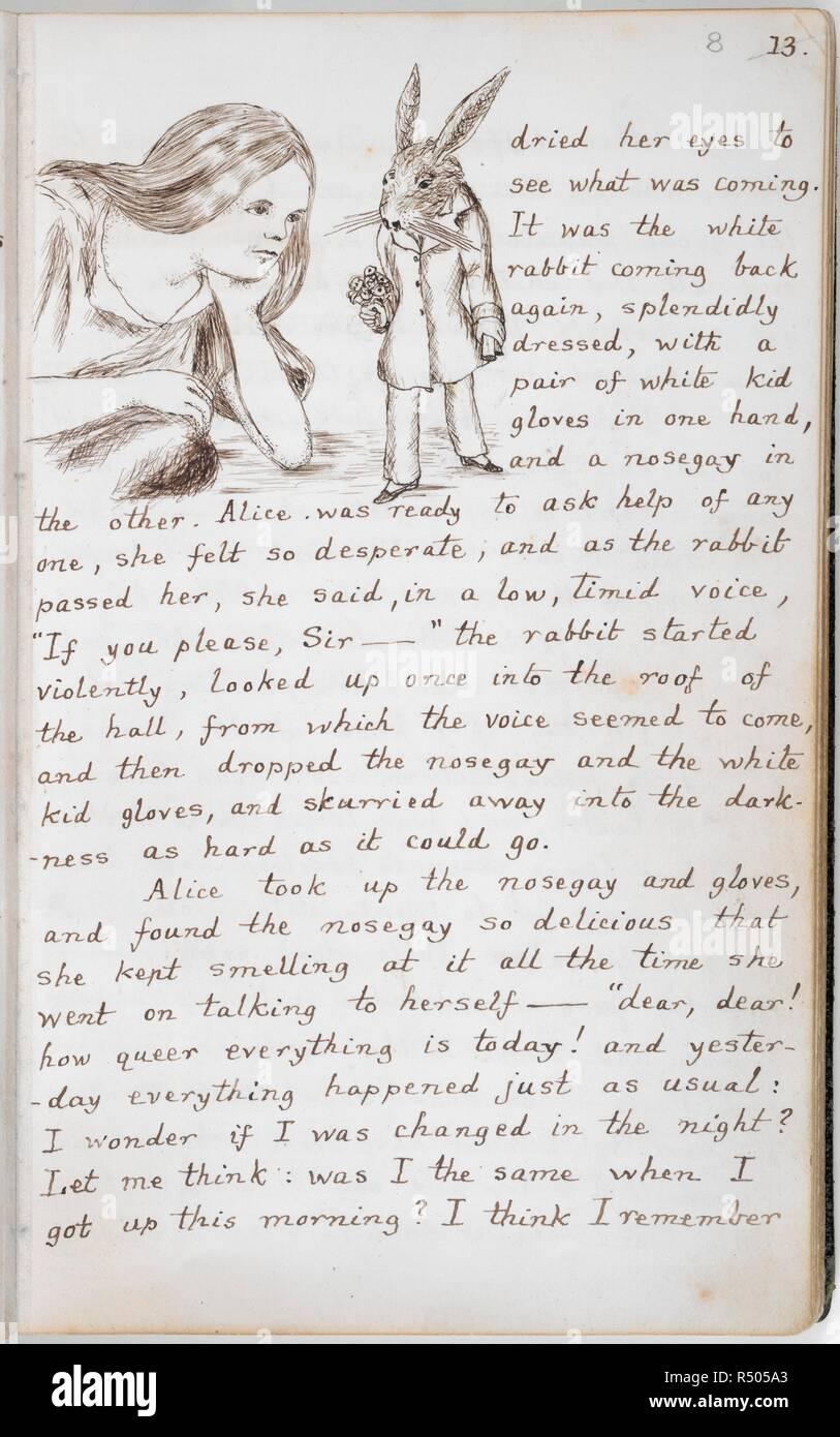 Alice e Alice sotto in terra coniglio Wonderland bianco il IZvqTZw
