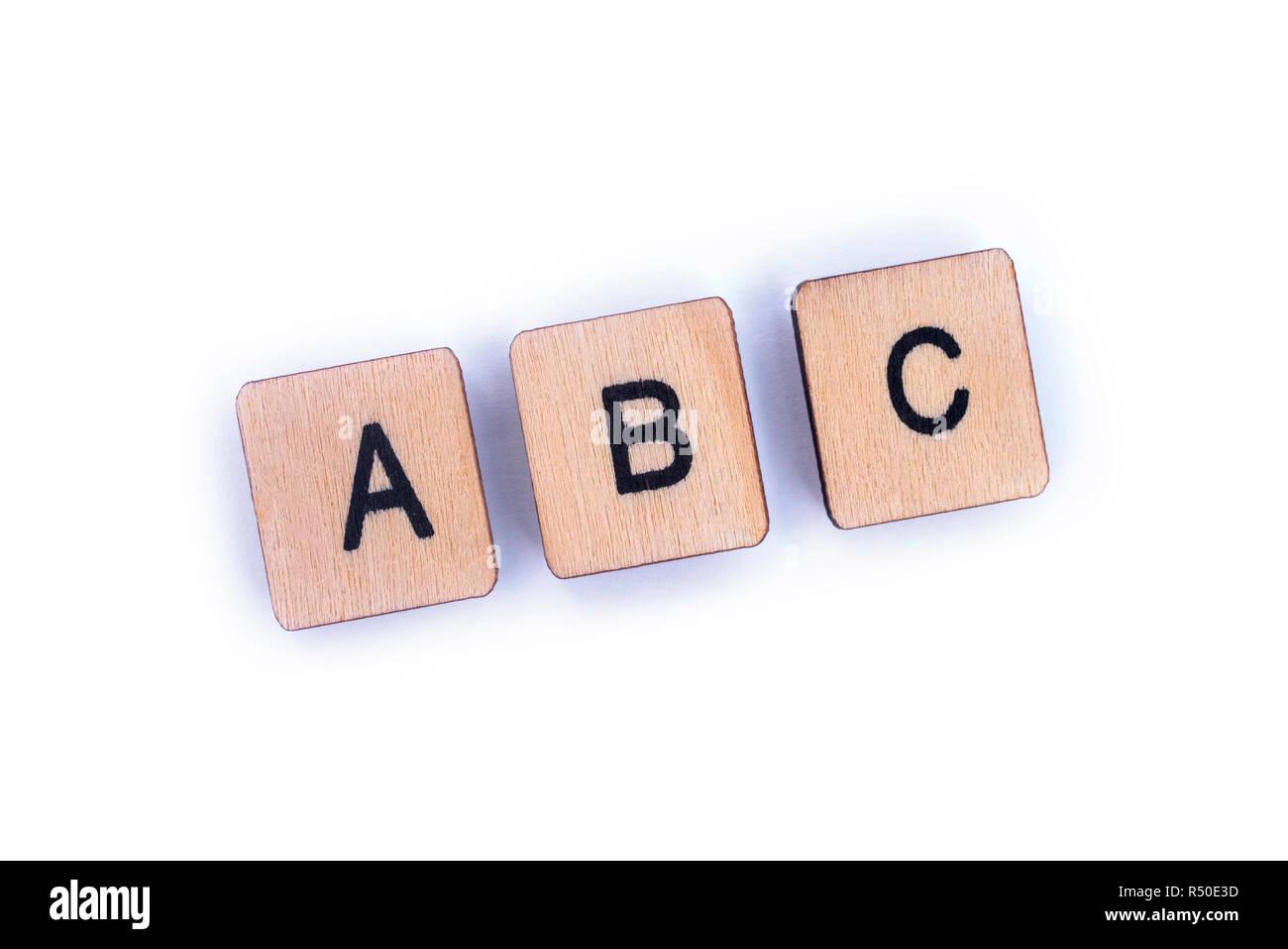Le lettere abc farro con lettera in legno piastrelle scrabble