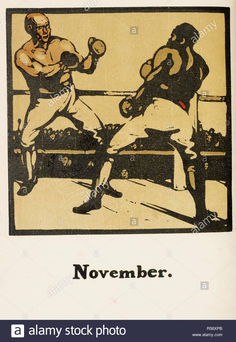 Calendario Sportivo.Immagine Da Un Calendario Sportivo Novembre Due Pugili