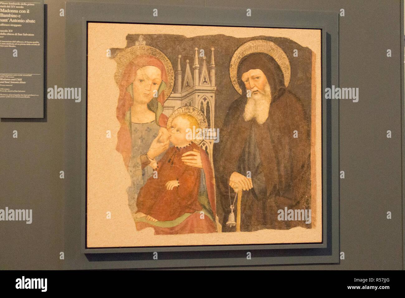 Dipinti Murali E Pittura Ad Ago : Litalia lombardia 24 dicembre 2017: la vista di pitture murali