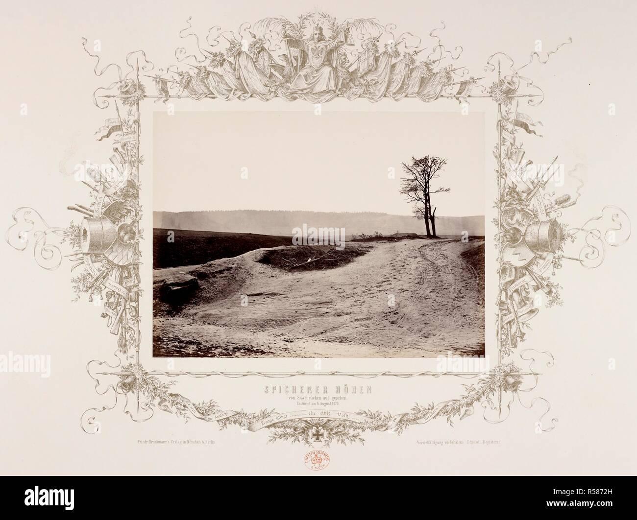 Le altezze al di sopra di Saarbrucken, presi dai prussiani il 6 agosto 1870. 1870. Albume stampa. Guerra franco-prussiana. Fonte: Mappe 184.p.1 (8). Autore: ANON. Foto Stock