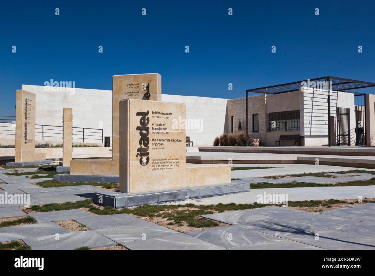 Giordania, Amman, la Cittadella, la zona di ingresso Immagini Stock