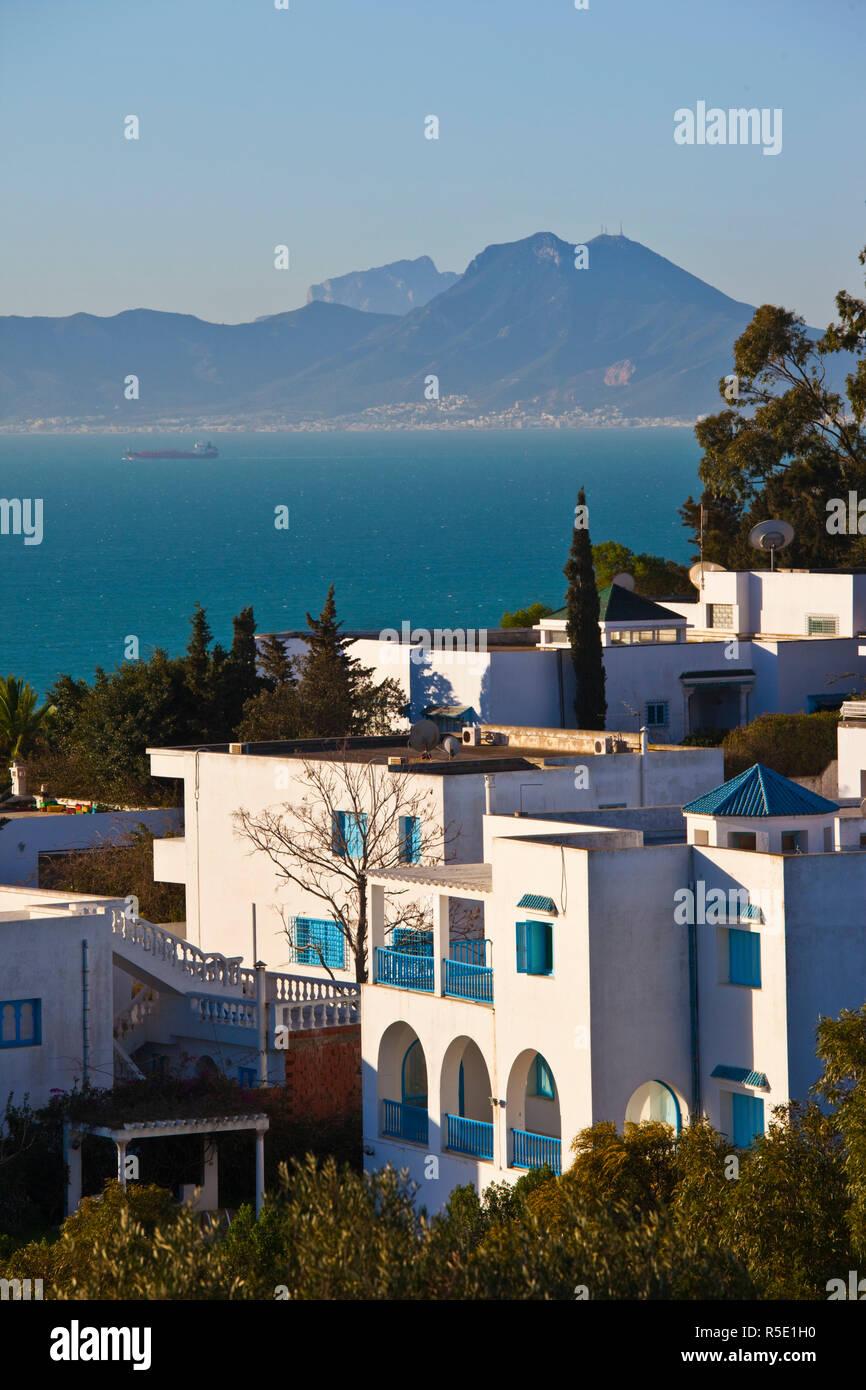 La Tunisia, Sidi Bou Said, villaggio dettaglio Immagini Stock