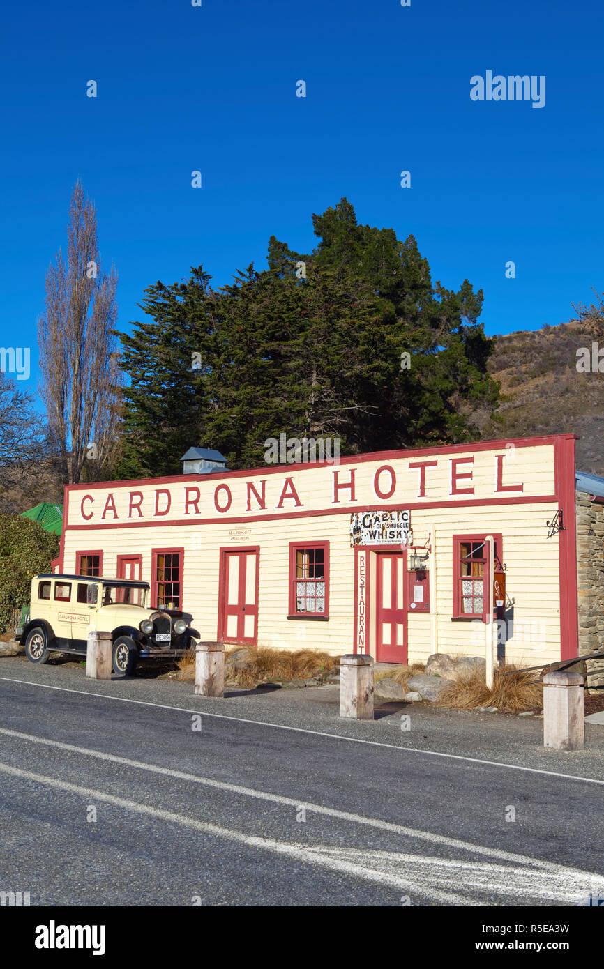 La storica Cardrona Hotel, Cardrona, Central Otago, Isola del Sud, Nuova Zelanda Immagini Stock