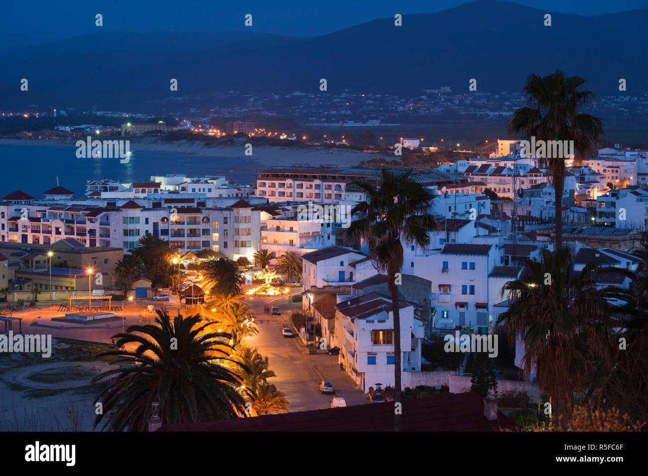 La Tunisia, nord della Tunisia, Tabarka, vista in elevazione della città Immagini Stock