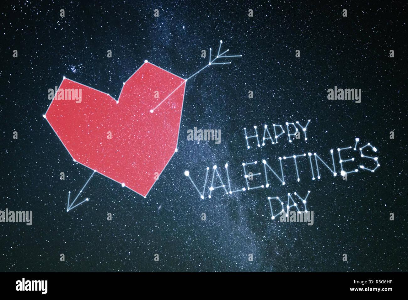 Buon San Valentino Biglietto Di Auguri Con Cuore Rosso E Scritte Su