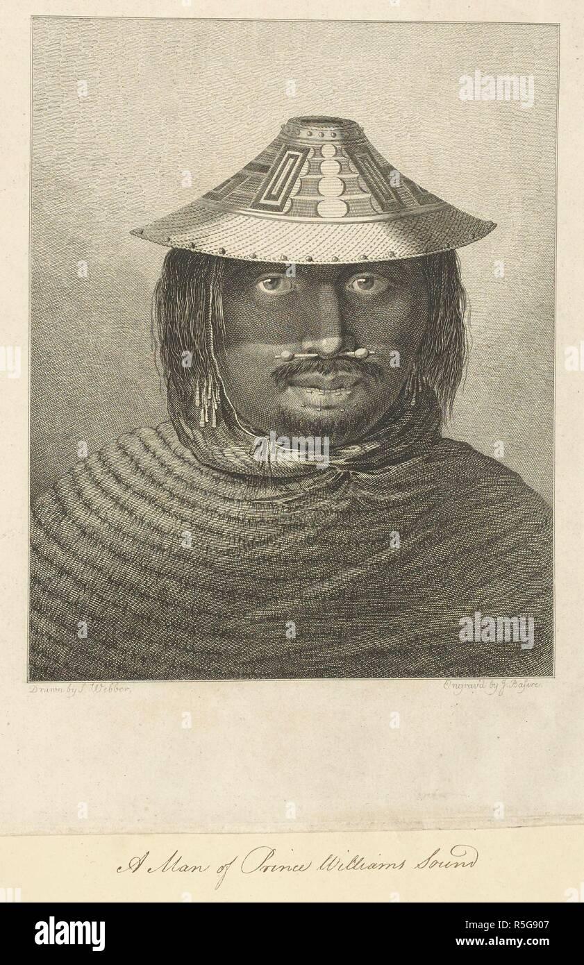 Un uomo del principe William il suono. Disegnato da John Webber e inciso da  James 3acb8a820be7