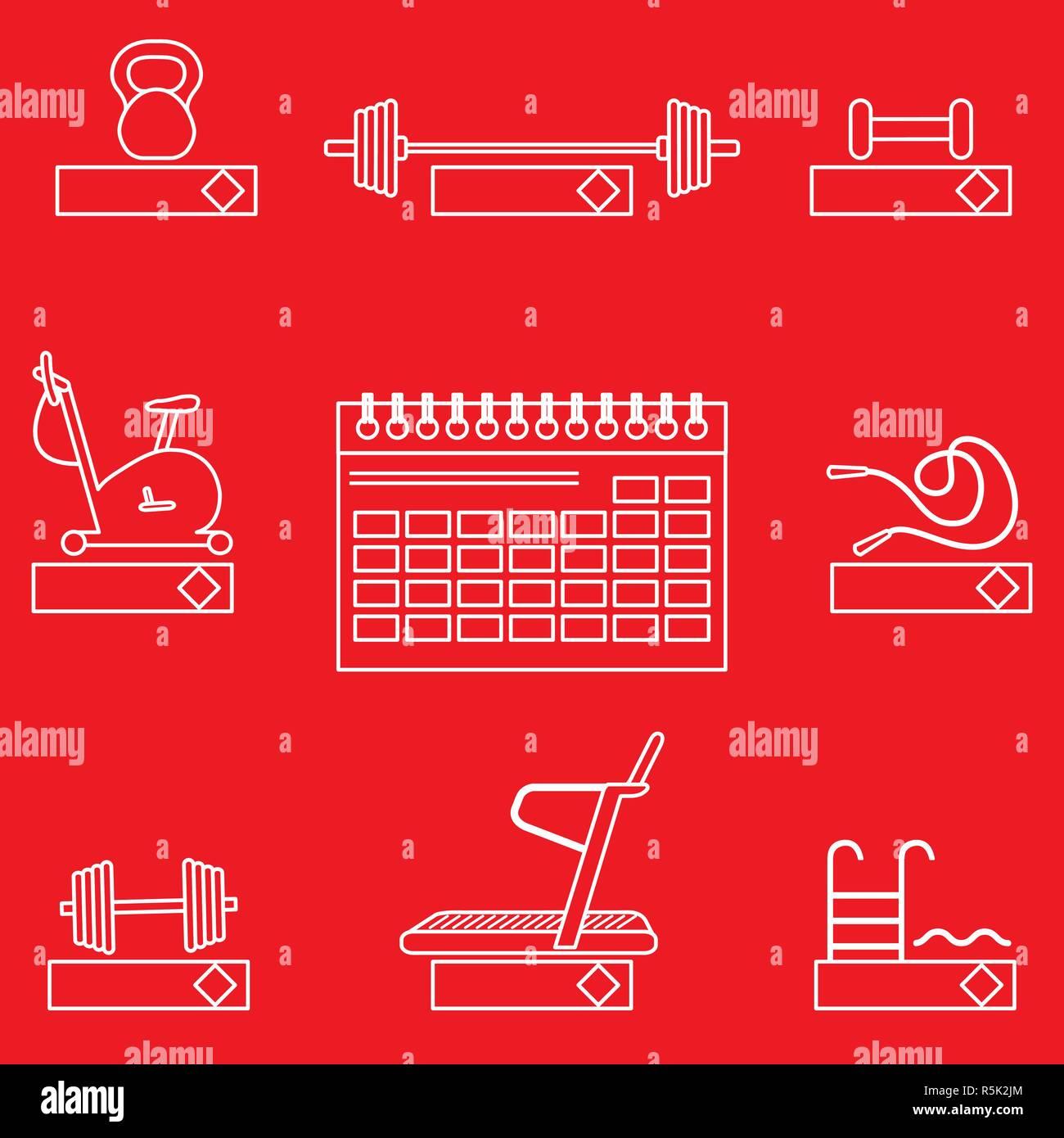 Calendario Fitness 2019.Tempo Per Il Fitness 2019 Il Concetto Di Fitness Con