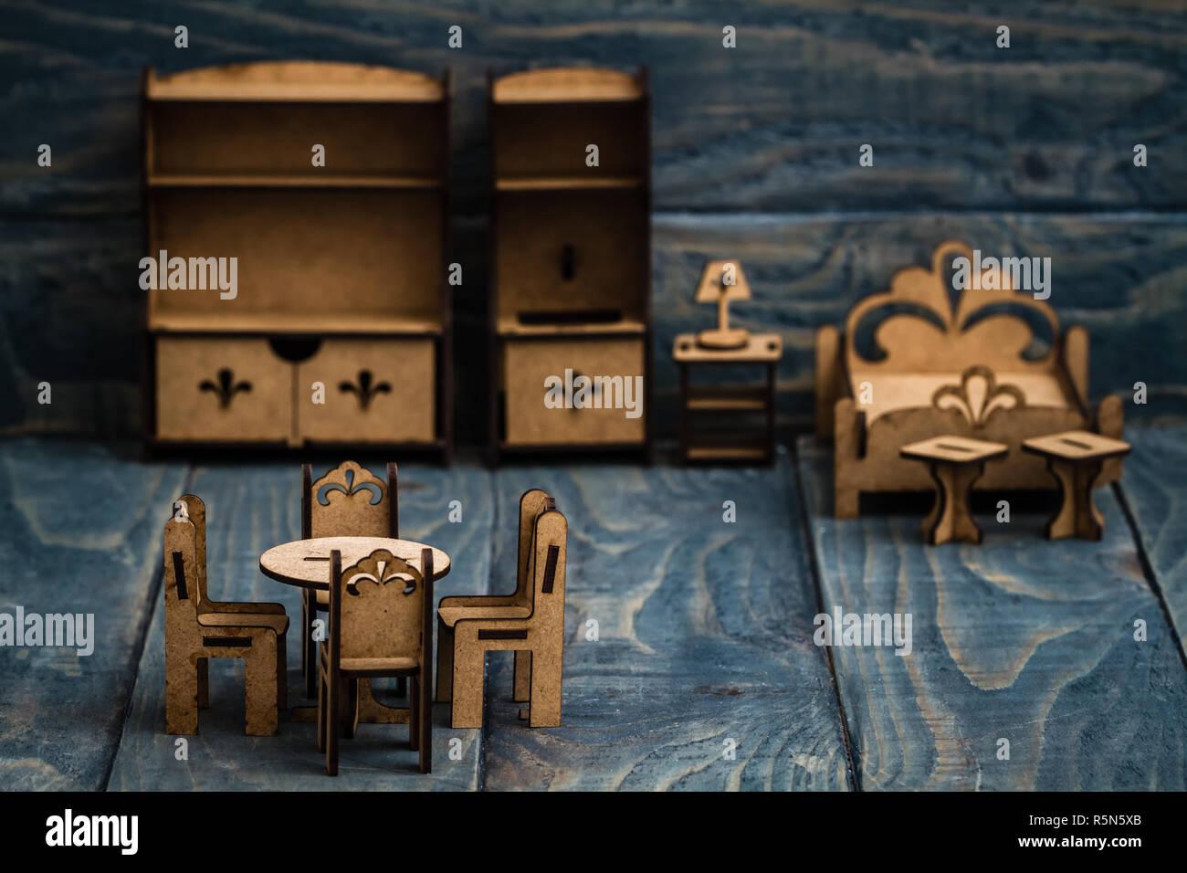 Dipingere Sedie Di Legno miniatura mobili in legno per bambini a dipingere e a godere
