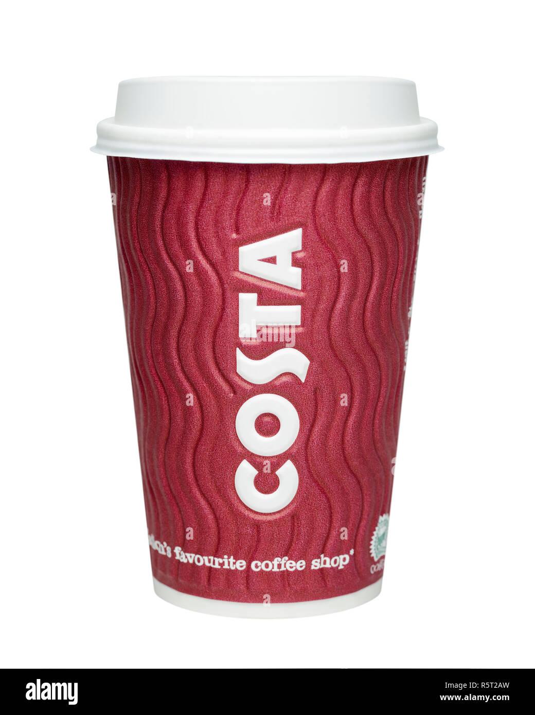 Costa Coffee Cup Immagini Stock
