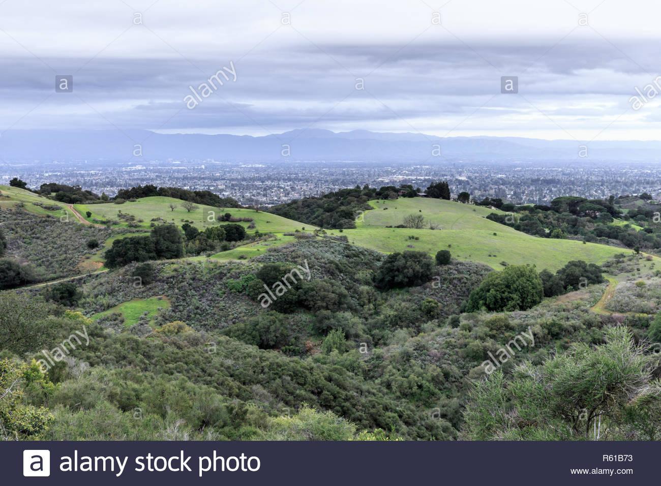 San Francisco South Bay Area viste in inverno. Immagini Stock