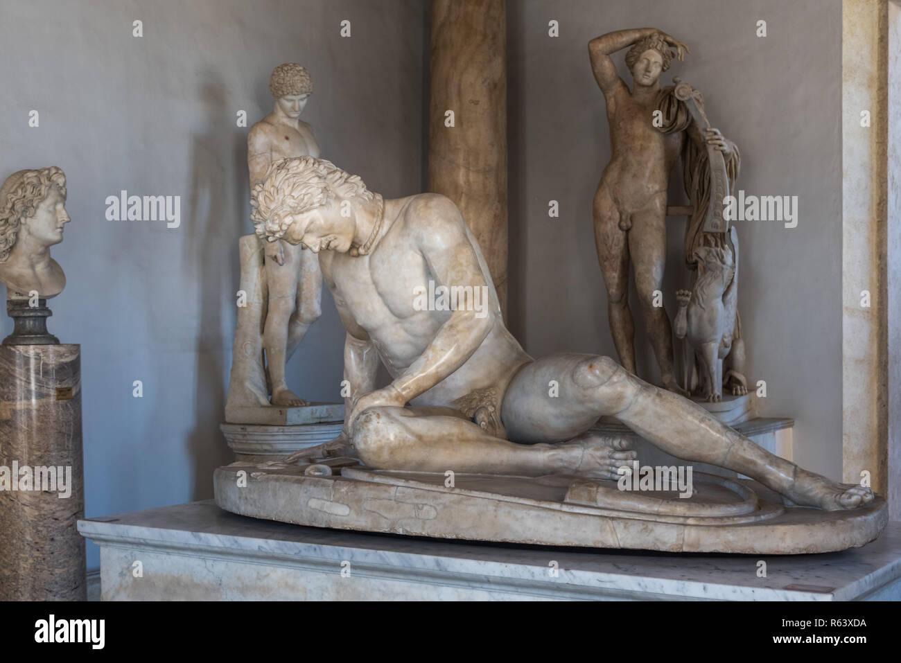 Galata morente, Musei Capitolini di Roma, Italia Immagini Stock