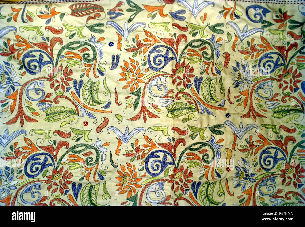 Il batik, tessuto stampato Immagini Stock