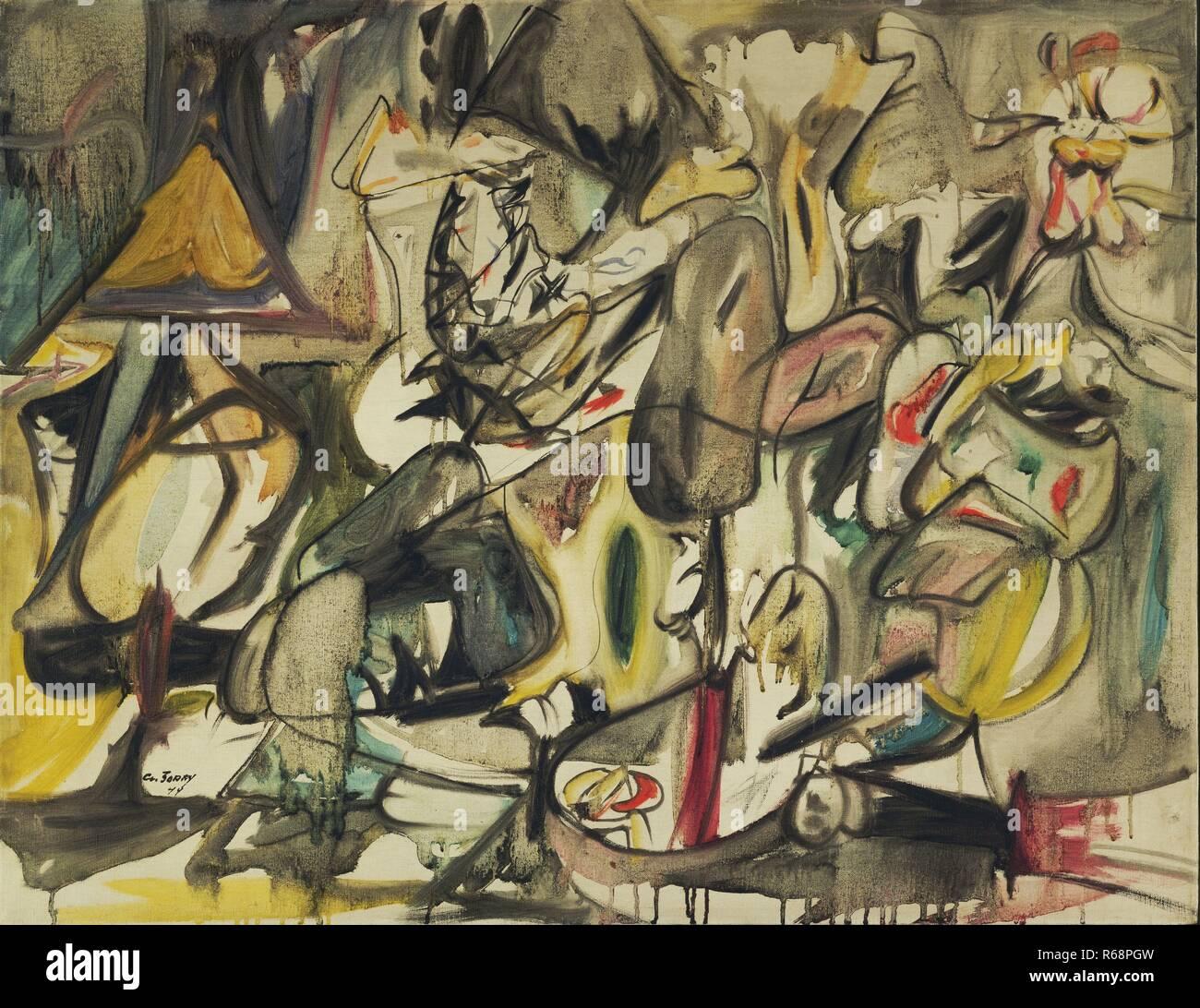 """Arshile Gorky. (Un americano nato l'Armenia. 1904-1948). La foglia del carciofo è un gufo. 1944. Olio su tela, 28 x 35 7/8"""" (71,1 x 91,2 cm). Sidney un Immagini Stock"""