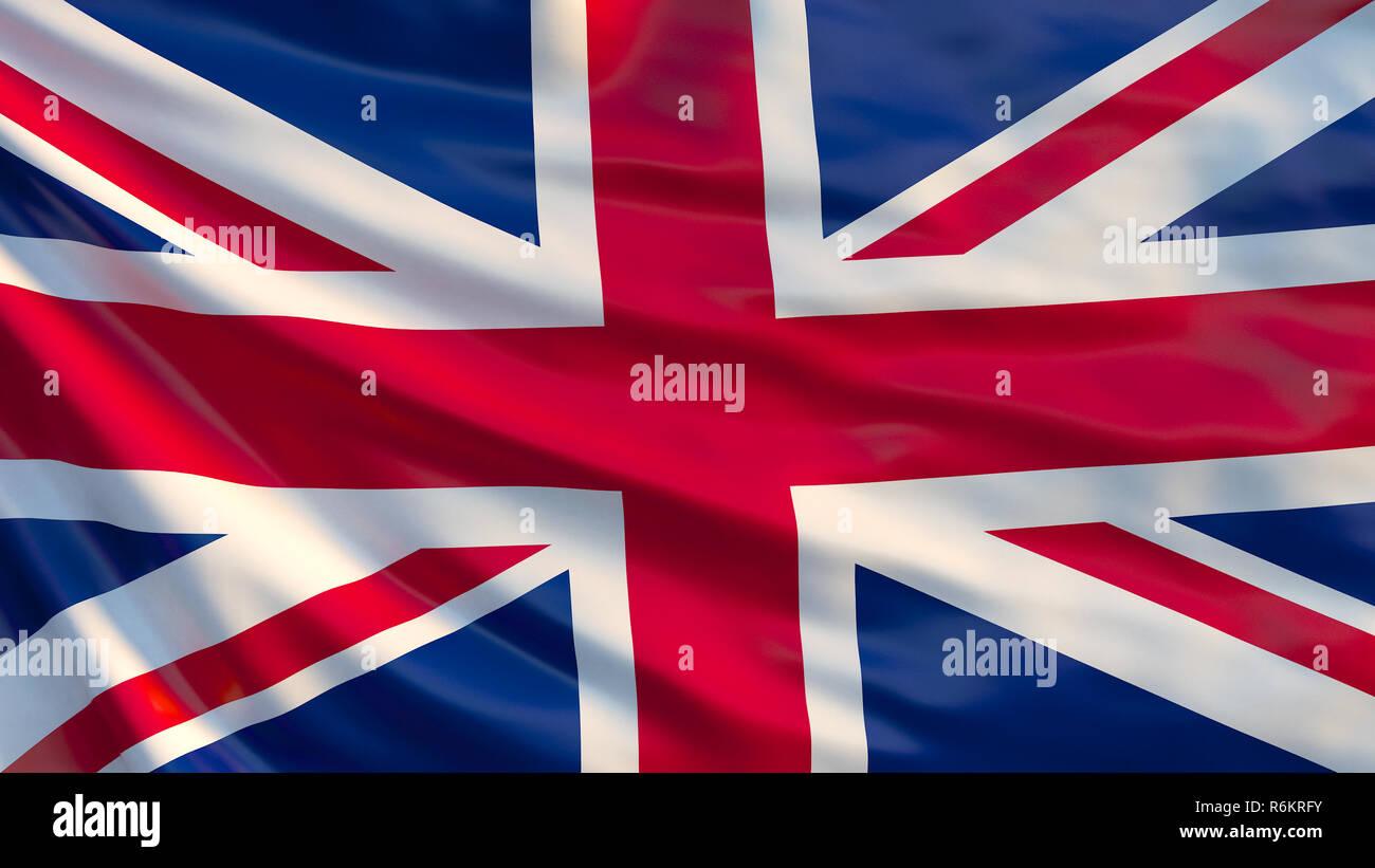 Union Jack Sventola Bandiera Regno Unito Bandiera Croce Rossa Sul