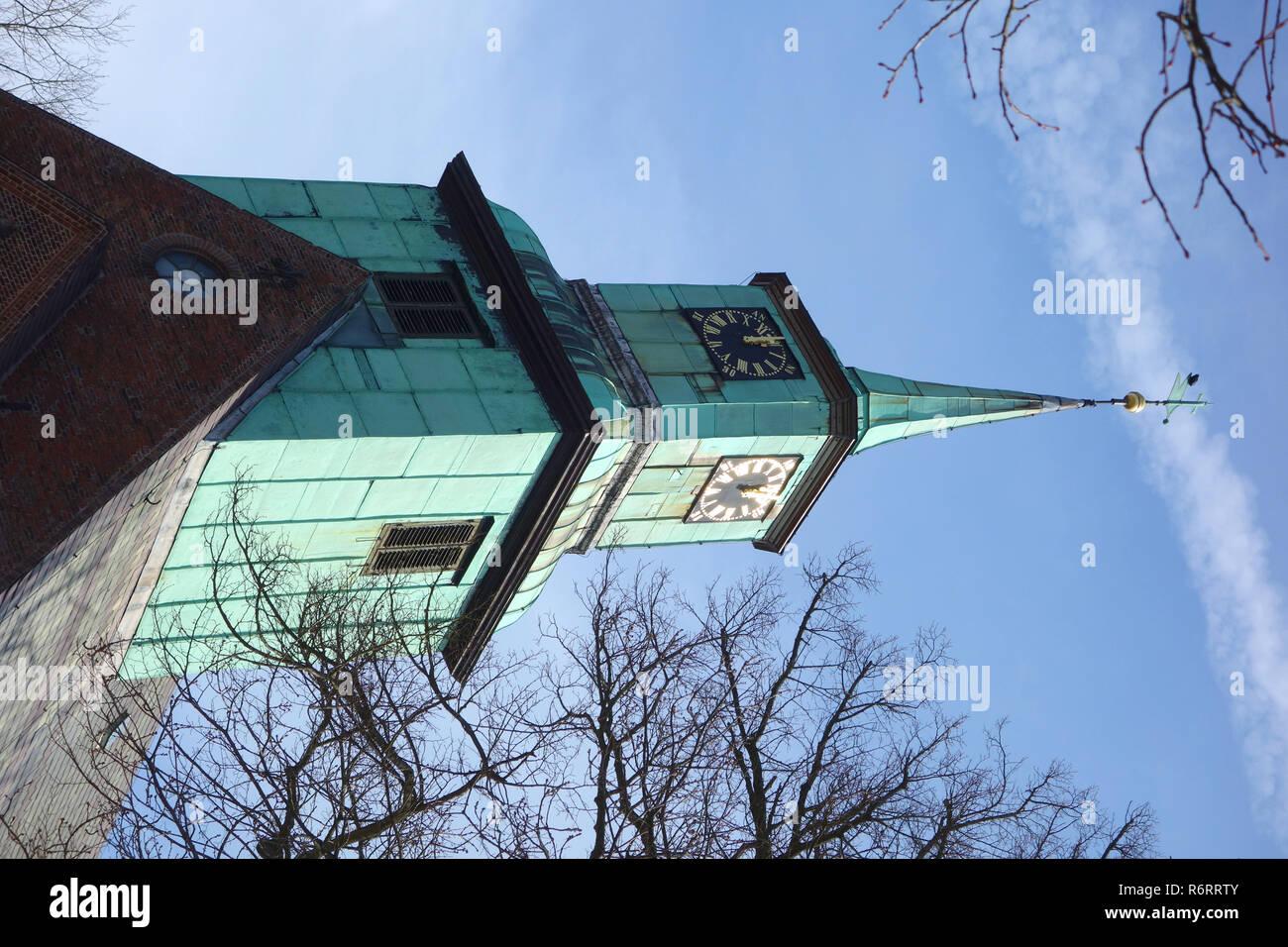Chiesa evangelica luterana in Hamburg nienstedten Foto Stock