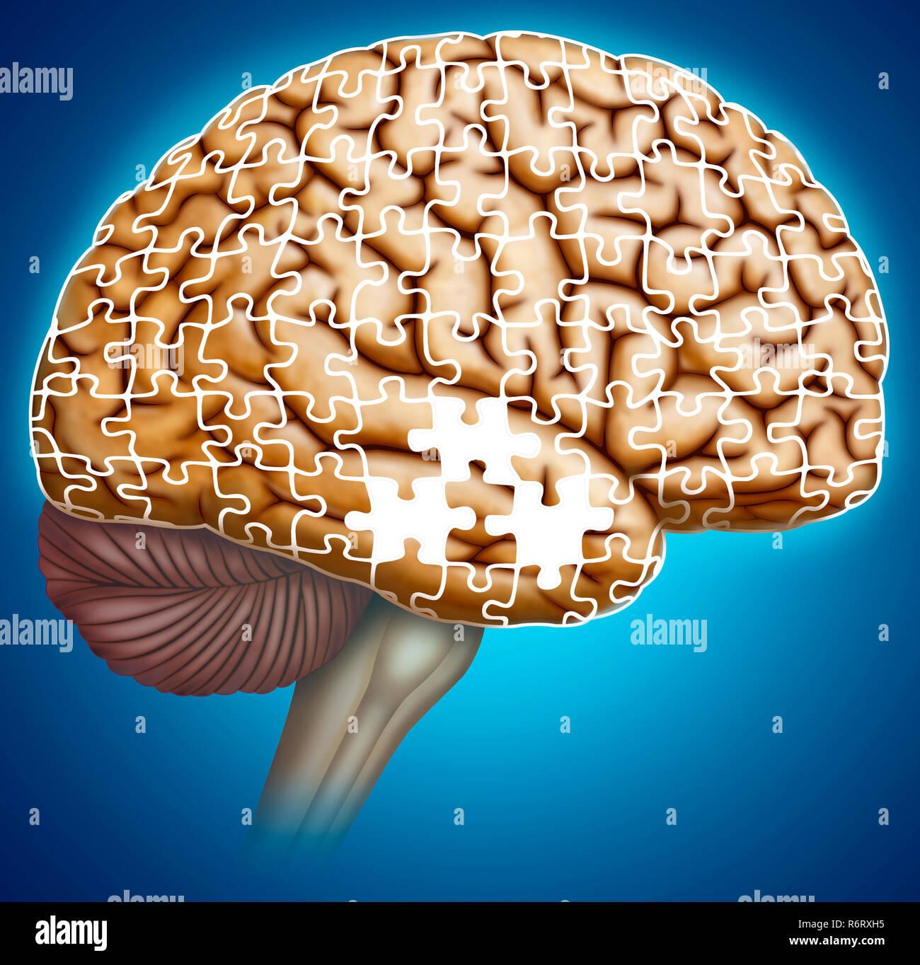 La memoria en la enfermedad de Alzheimer Foto Stock