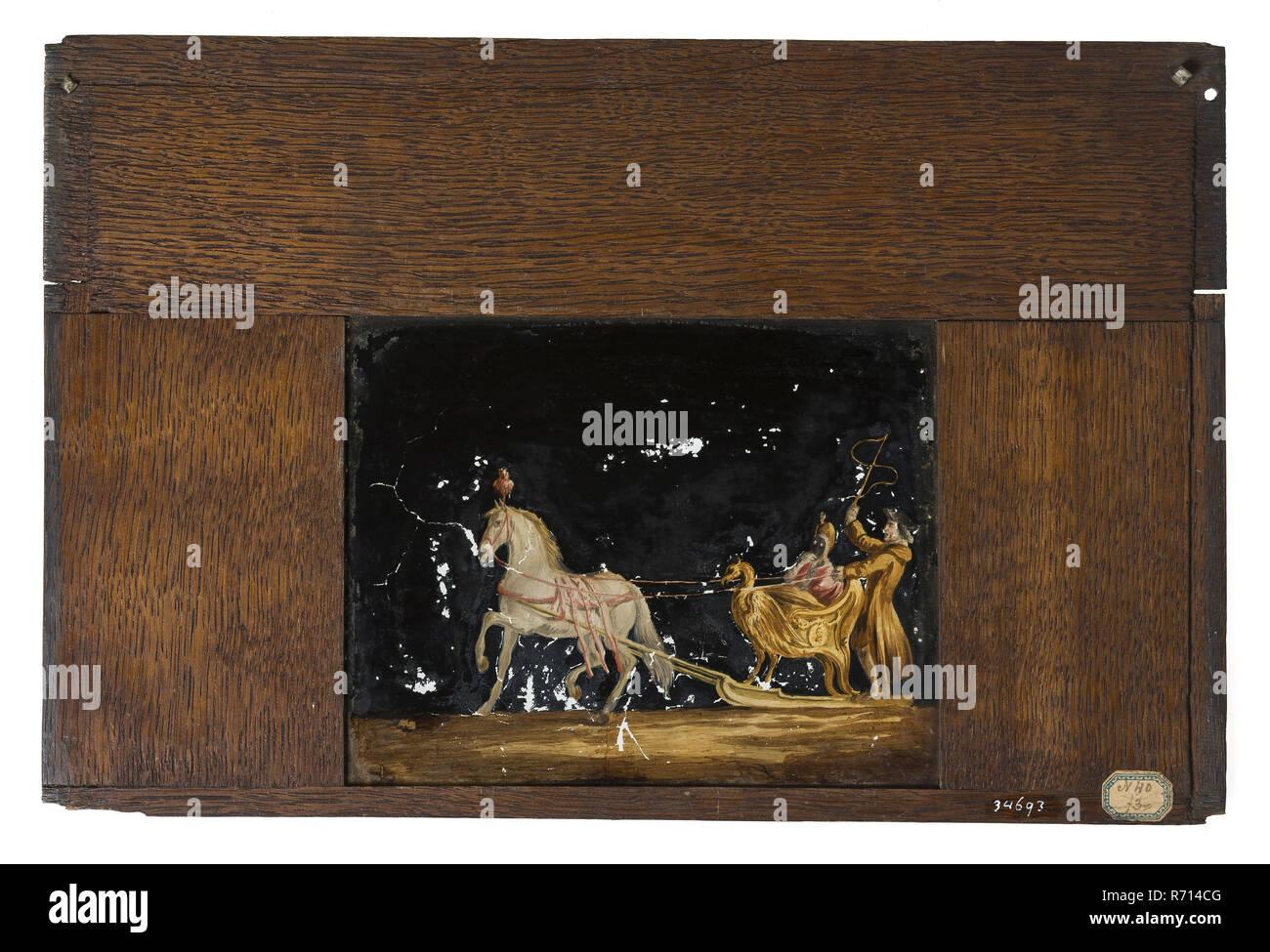 Ripiani In Legno Per Armadi : Dipinte a mano e ripiano in vetro in cornice di legno per cabinet