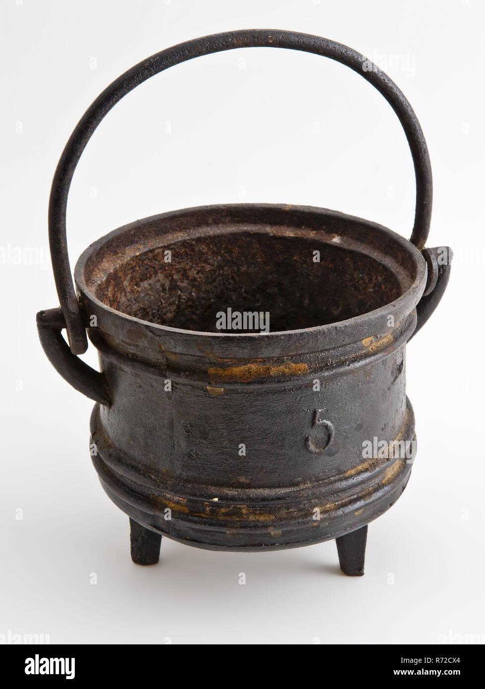 Ghisa Crogiolo Di Fusione Con Maniglia Segnato 5 Melting Pot Pot