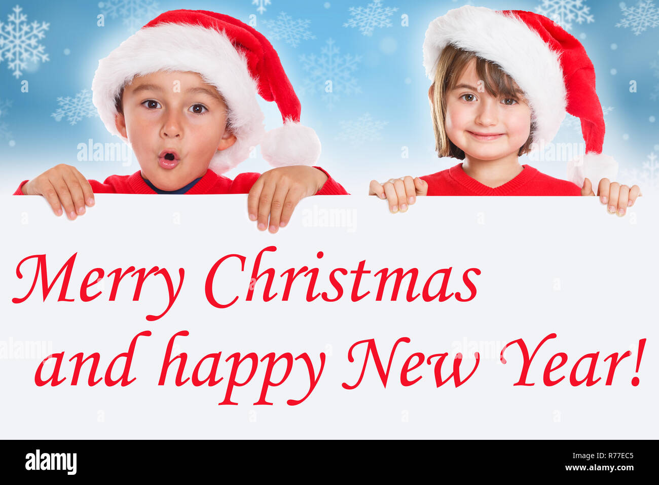 Buon Natale Bambini.Buon Natale Bambini Kids Card Babbo Natale Saluti Foto Immagine