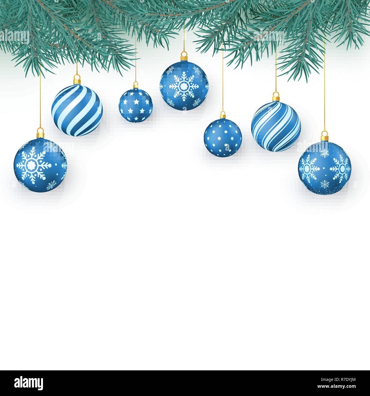 Palline Di Natale Con Rametti decorazione di natale gli elementi isolati su bianco
