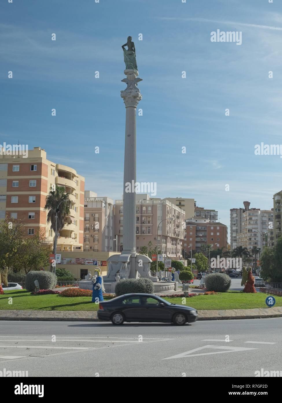 Monumento al turista (Monumento al turista). Torremolinos Málaga, Spagna. Foto Stock