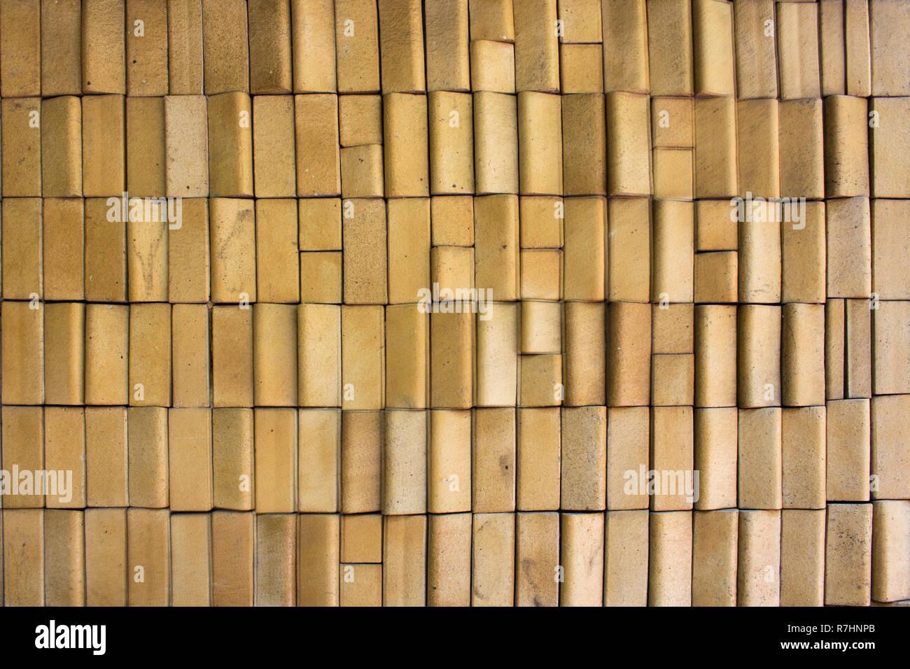 Muro di mattoni beige texture. Immagini Stock