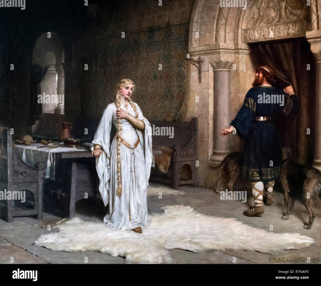 Lady Godiva da Edmund Blair Leighton (1852-1922), olio su tela, 1892 Foto Stock