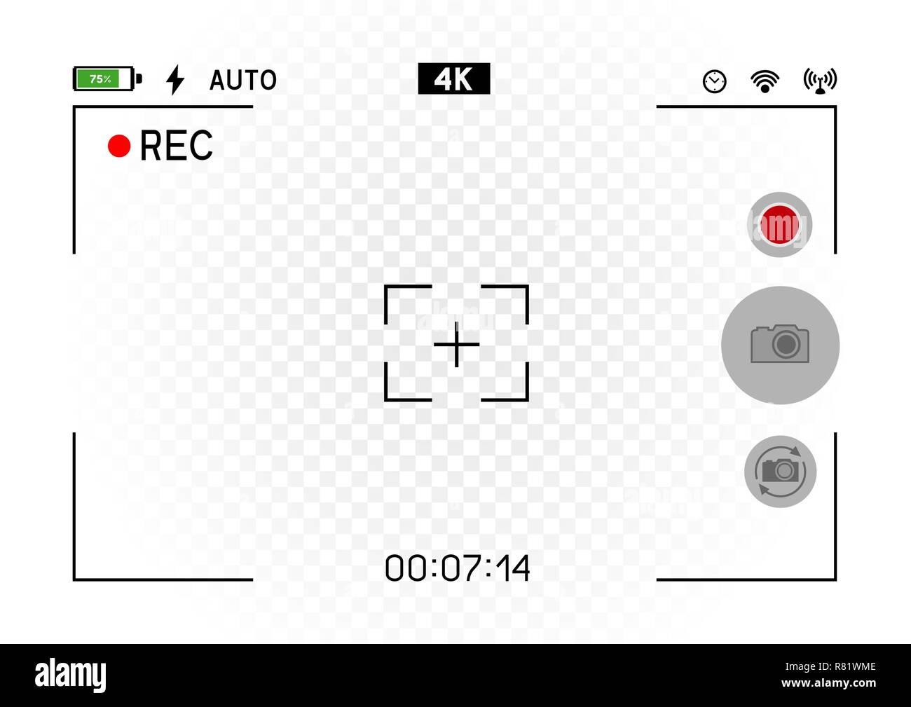 Smartphone orizzontale mirino della fotocamera Immagini Stock
