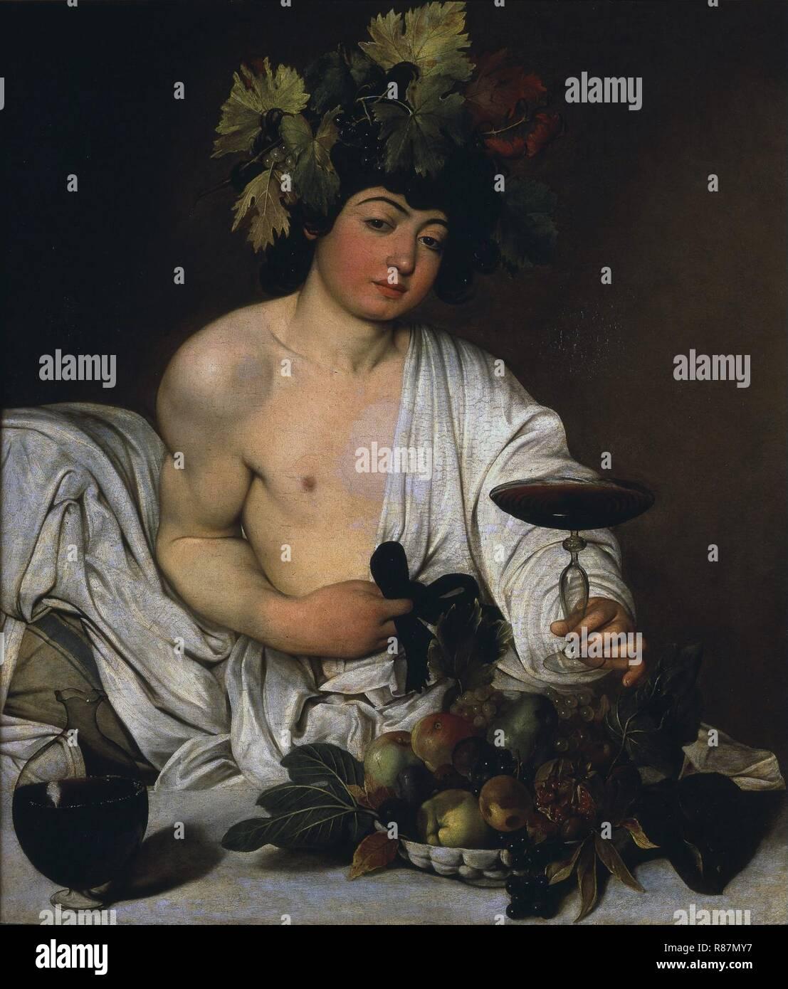 Caravaggio - Bacco adolescente Immagini Stock