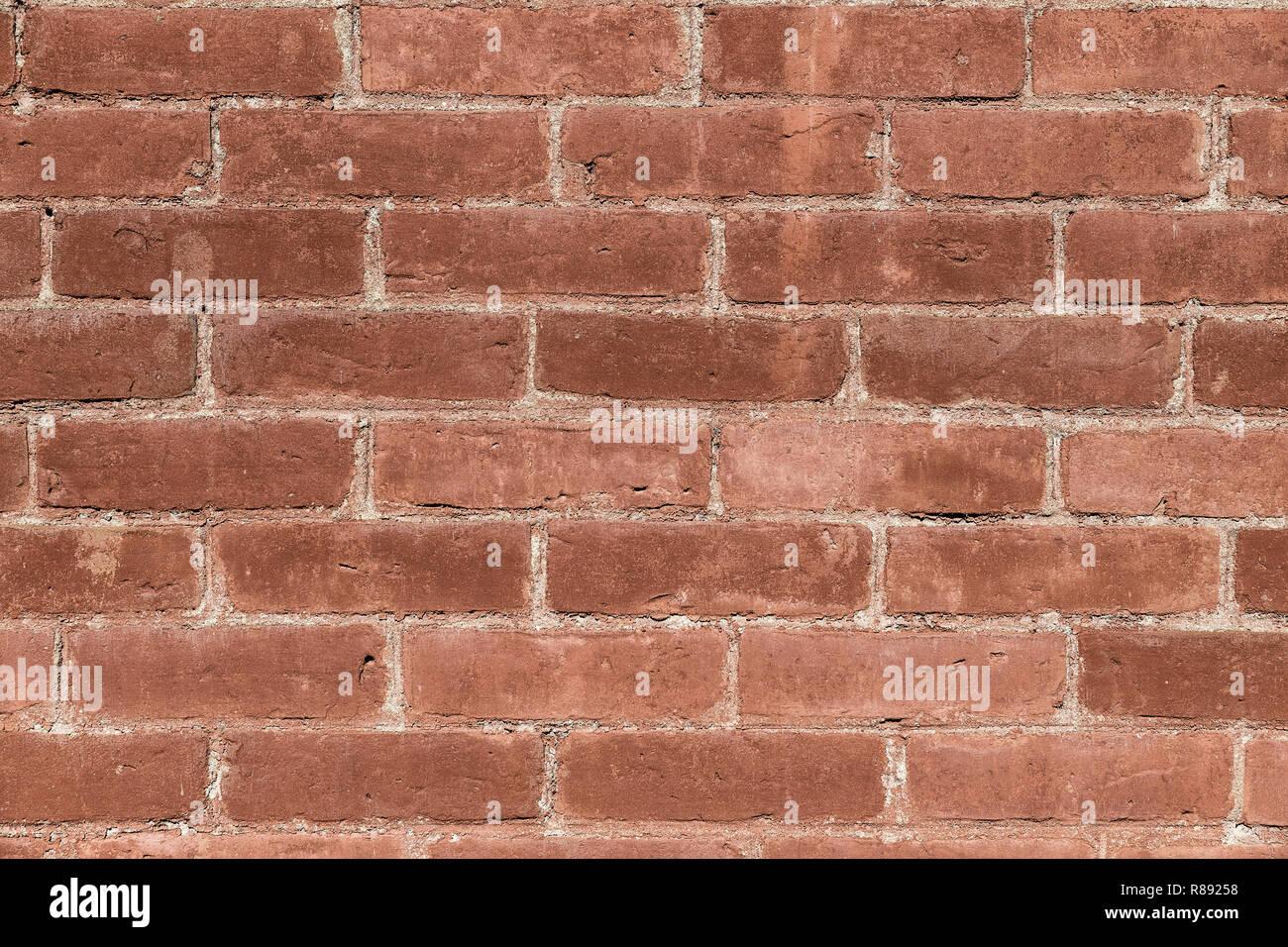 Solido mattone parete. Immagini Stock