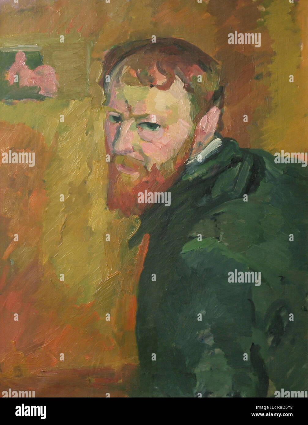 Autoritratto, c1913. Presenti nella collezione del museo Kunsthaus Züricco. Immagini Stock