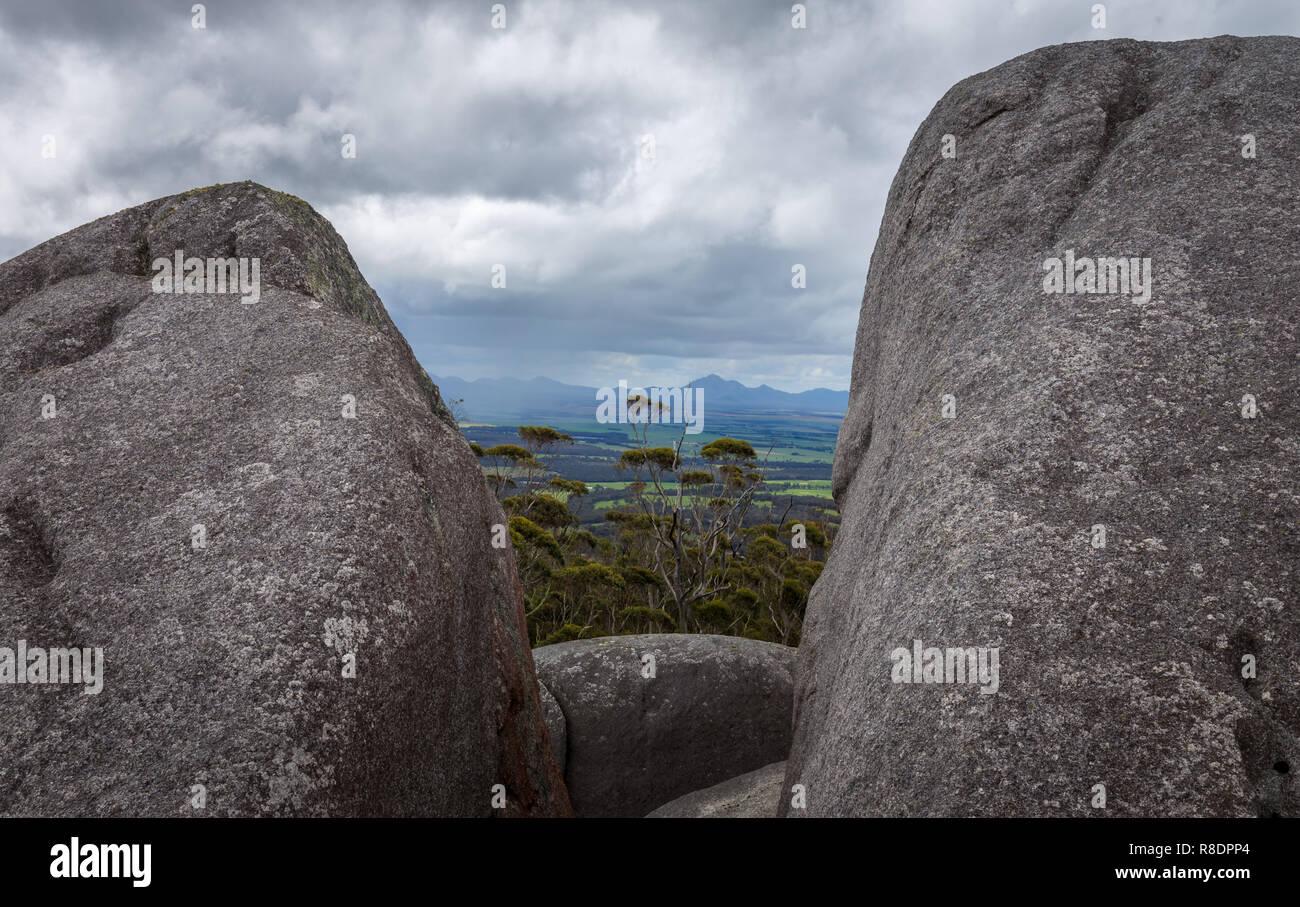 Roccia di granito, Porongurup, Australia occidentale Immagini Stock