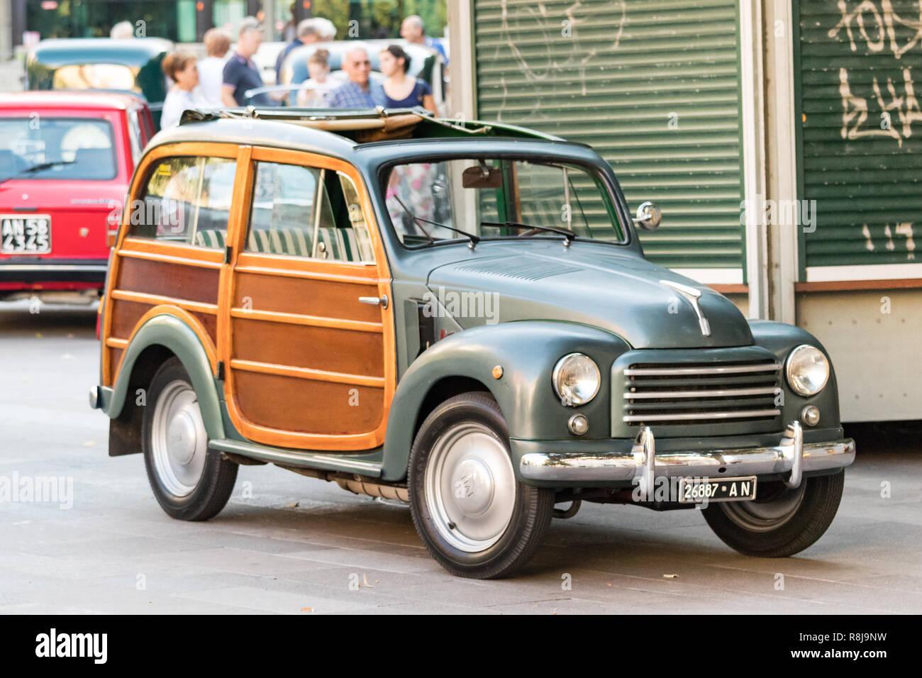 Ancona Italia Settembre 23th 2018 Vista Di Un Vintage Fiat