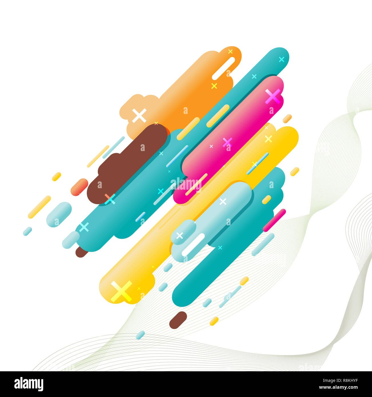 Stile moderno sfondo astratto per la progettazione. Vettore, illustrazione, eps10. Immagini Stock