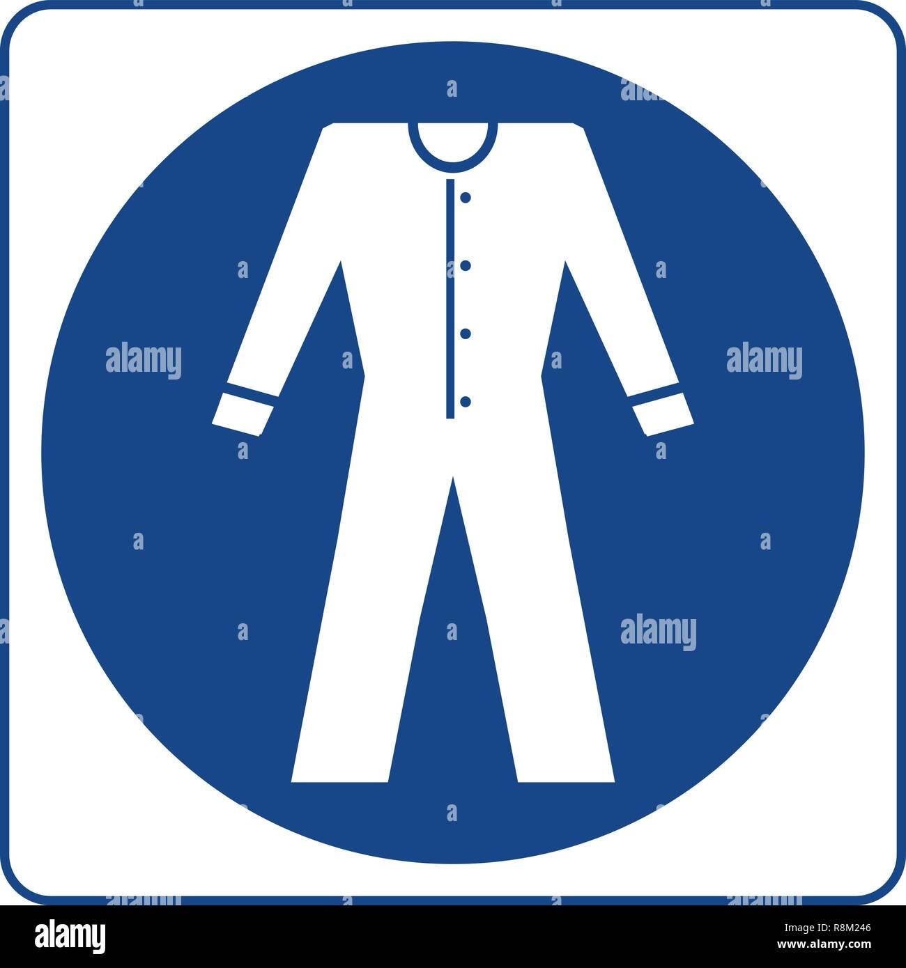 Obbligatorio firmare vettore - indossare indumenti ad elevata visibilità, workwear simbolo, etichetta, etichetta. Si devono indossare indumenti ad elevata visibilità in questa area Immagini Stock