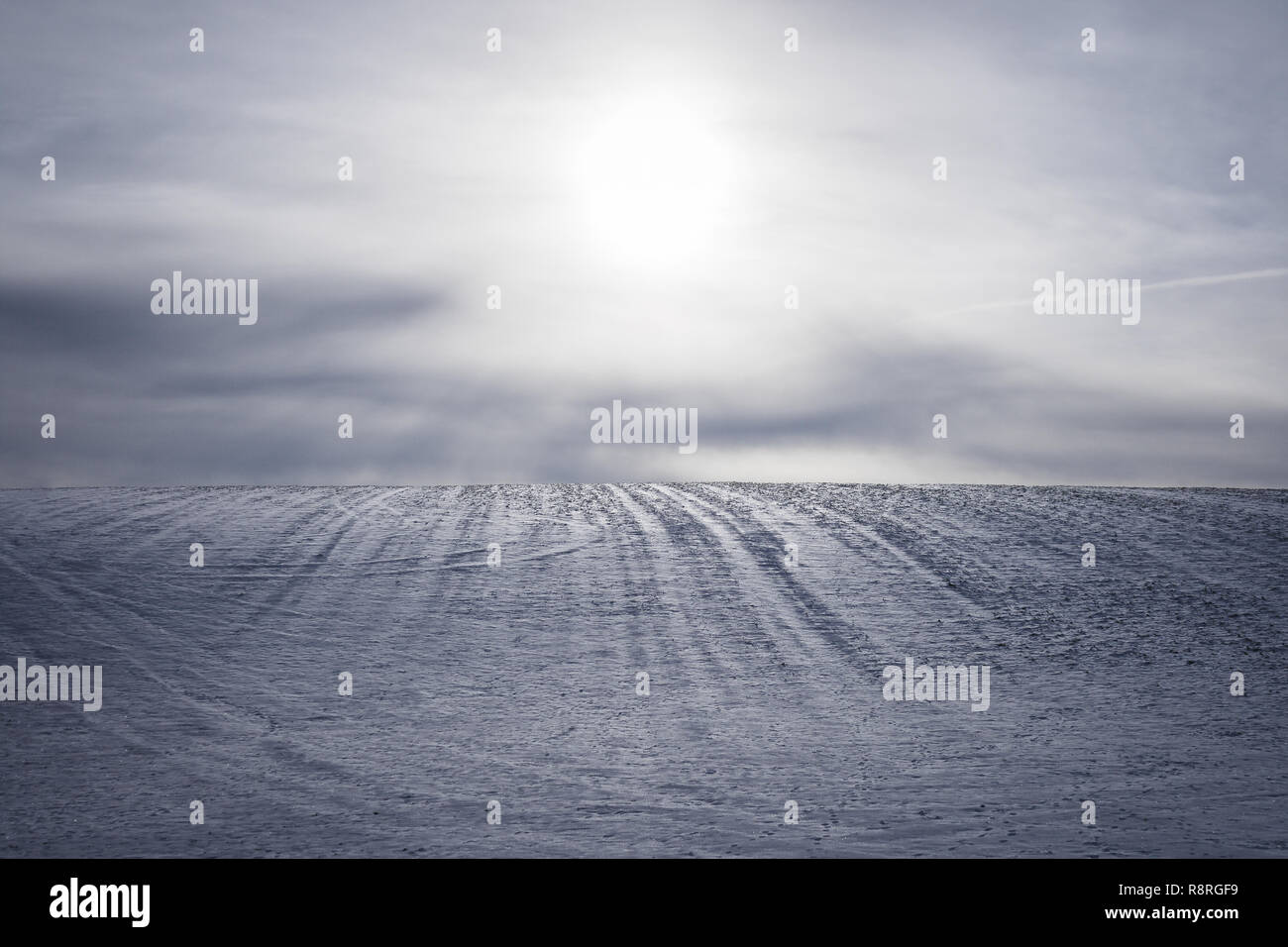 Collina dello Snowy Immagini Stock