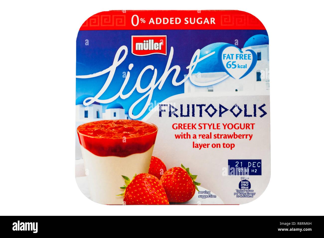 Pack Di Muller Fruitopolis Luce In Stile Greco Di Yogurt Con Un Vero
