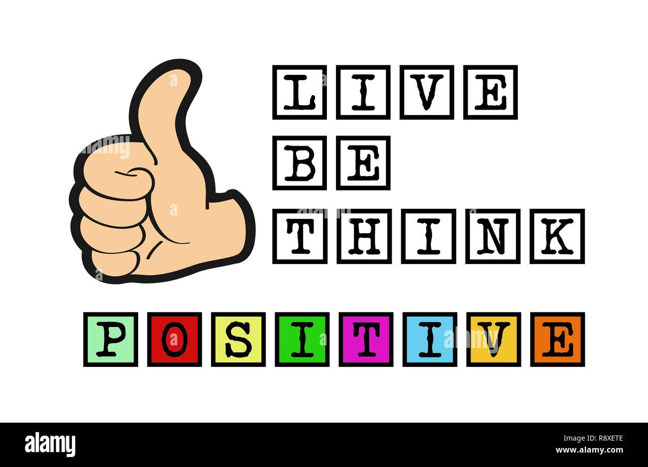 Vivere, essere e pensare positivo Immagini Stock