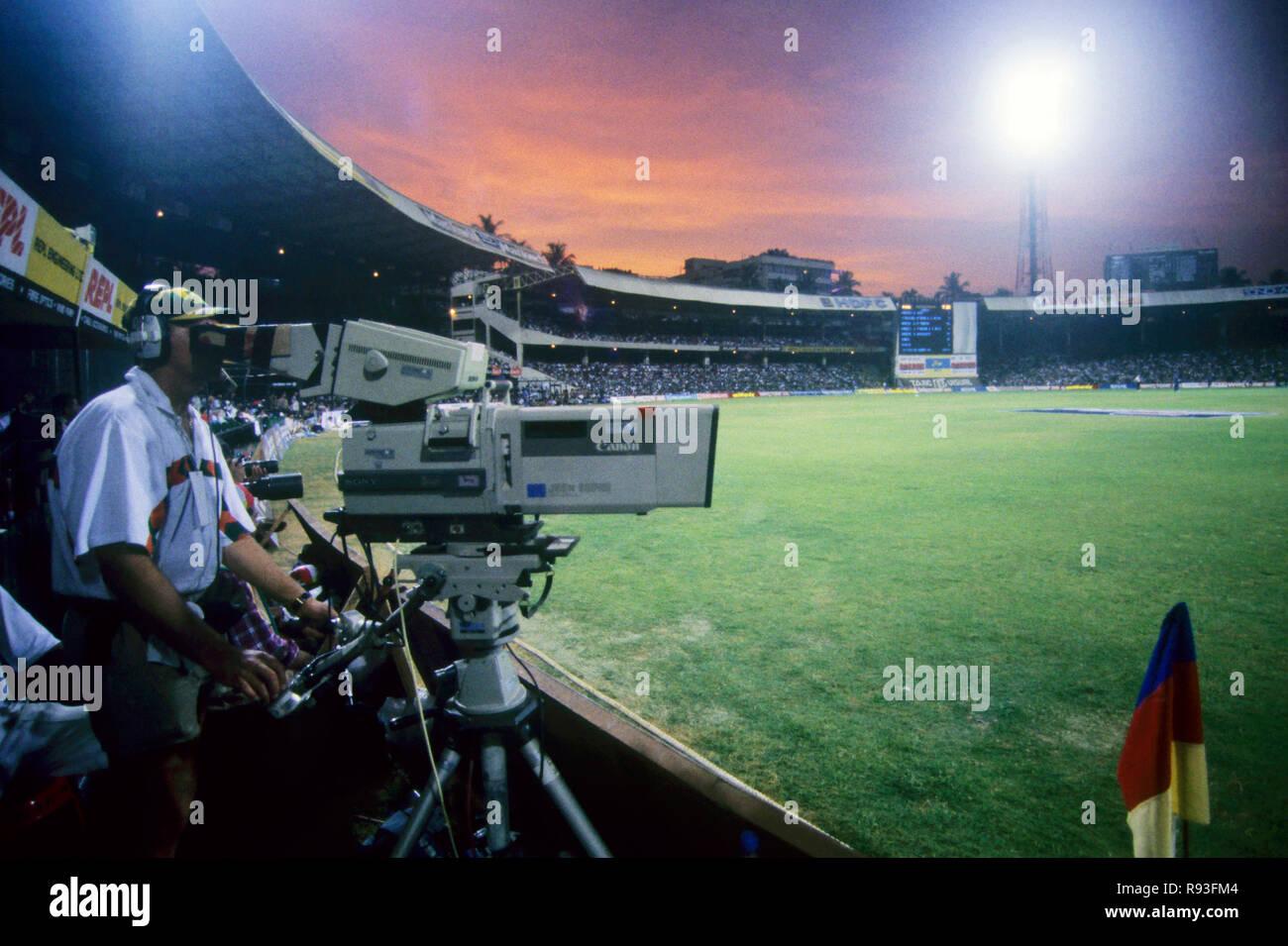 Partita di cricket Immagini Stock