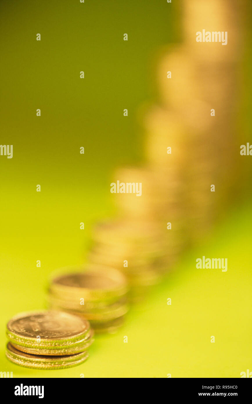 Concetto, monete, Crescita Immagini Stock