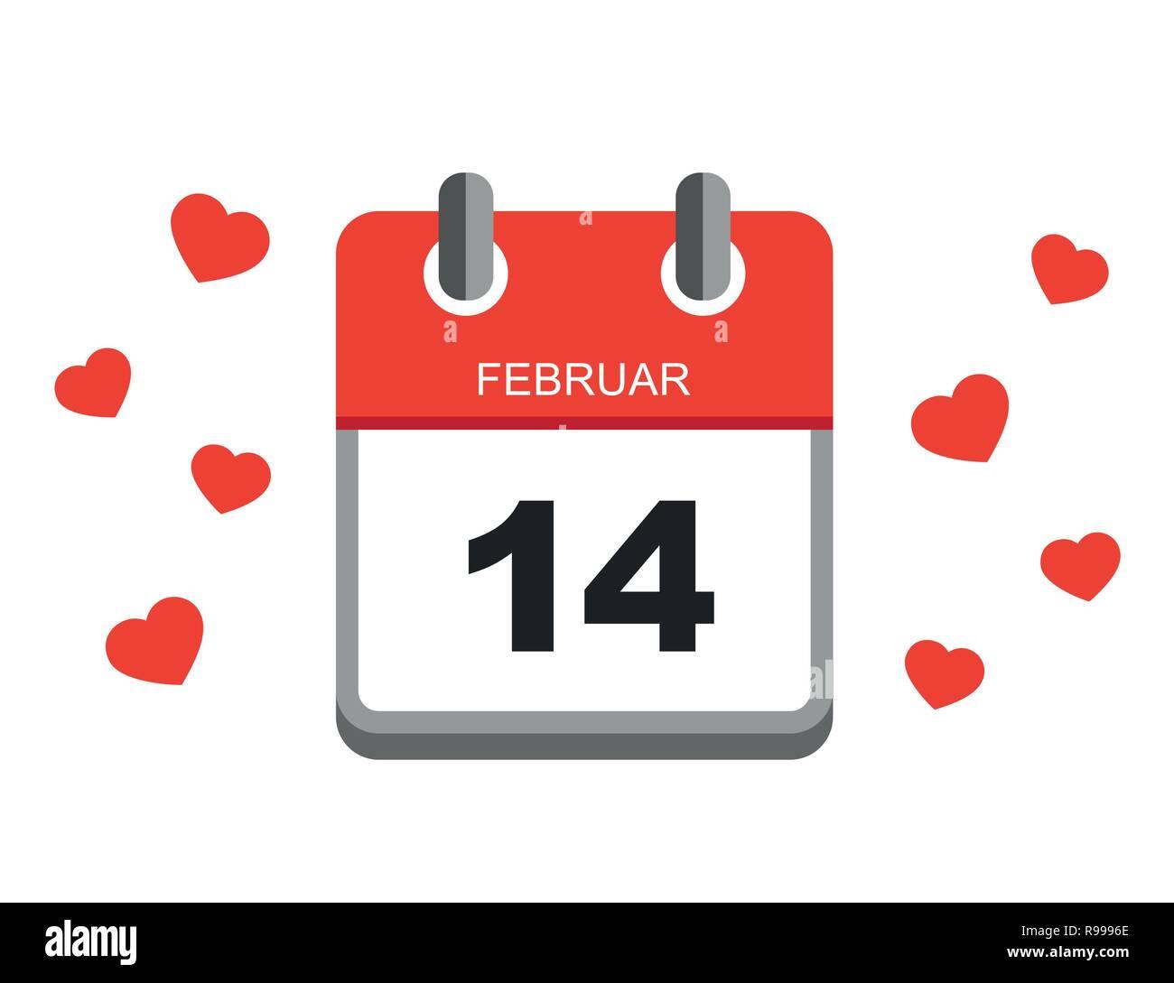 Rossi Sul Calendario.Il Giorno Di San Valentino Rossi Calendario Dell Icona
