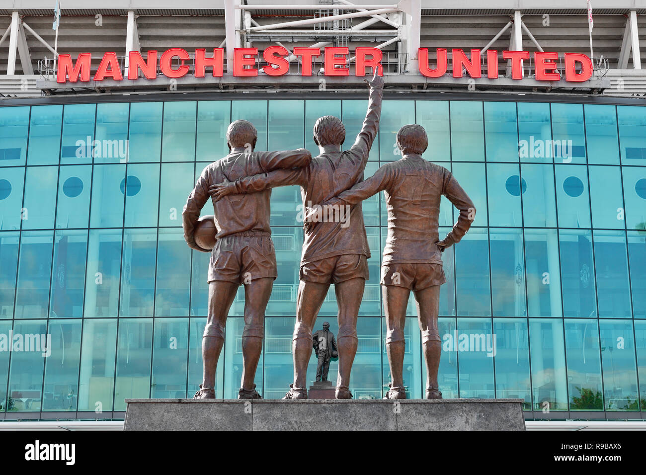 Old Trafford Stadium, casa per il Manchester United Football Club, England, Regno Unito Immagini Stock